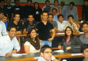 Aamir Khan at IIM Ahmedabad