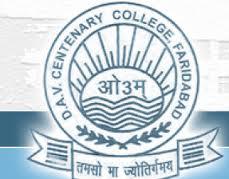 D.A.V. Centenary College, Faridabad Logo